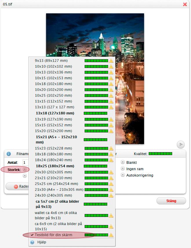 Testbild för din skärm