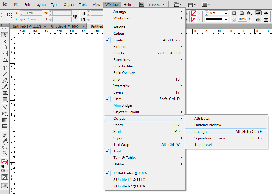 InDesign Preflight