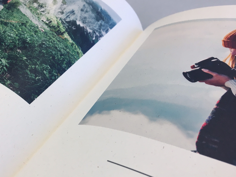 Närbild av fotojournal av naturpapper
