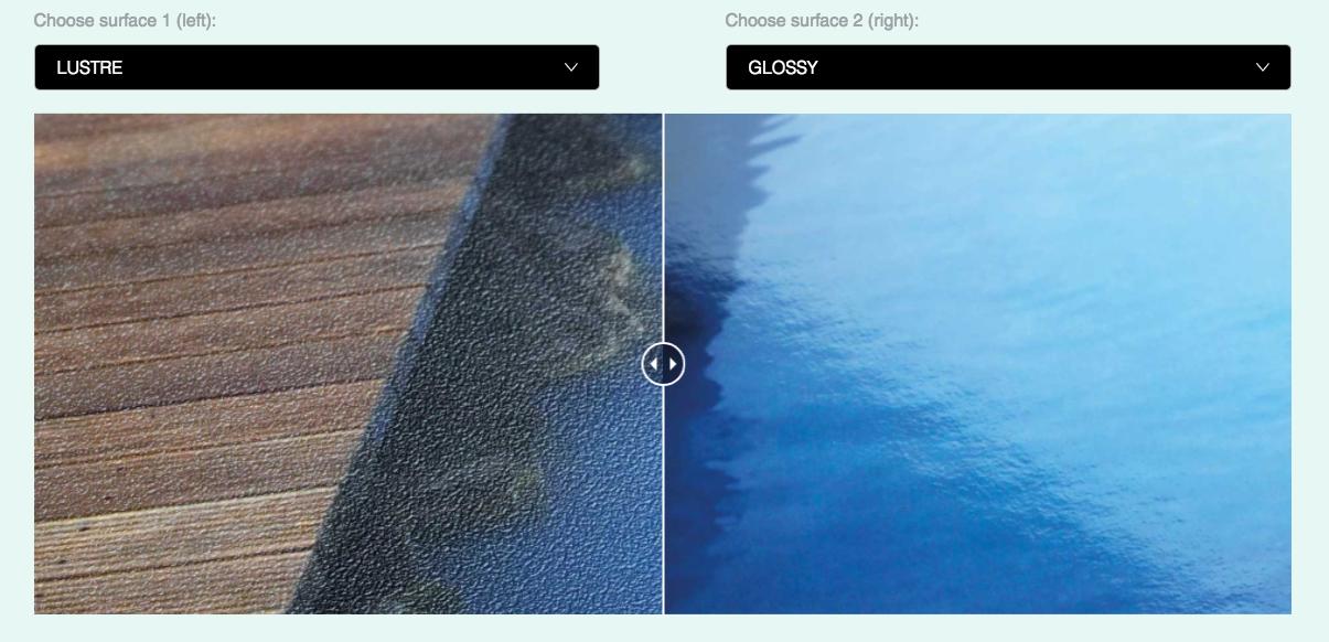Jämför fotopapper funktion av Fuji