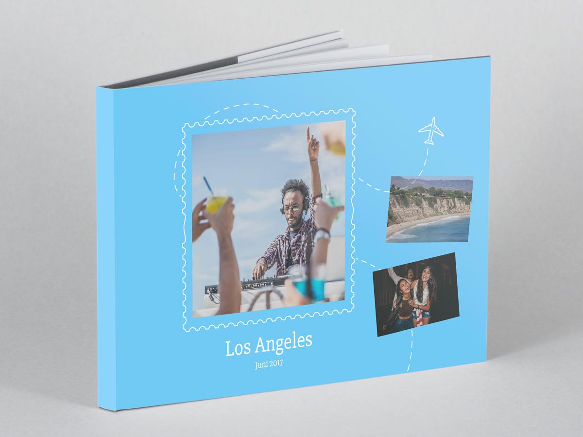 Fotobok med snyggt resetema