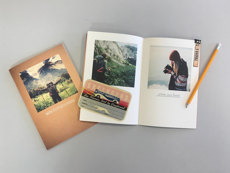 Fotobok på naturpapper – perfekt för scrapbooking