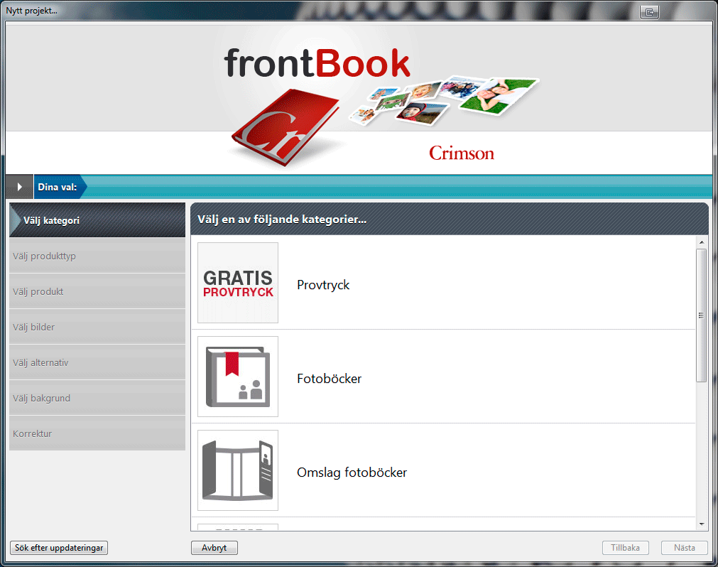 Provtryck - frontBook