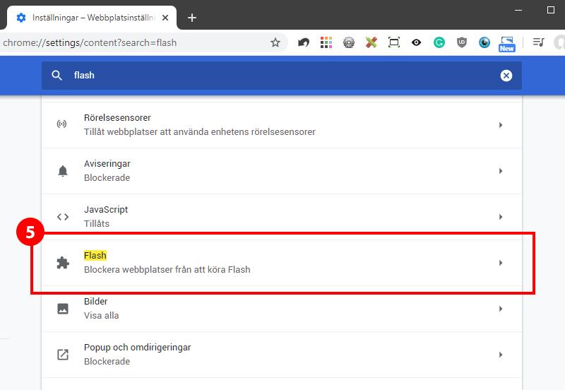 guide hur man aktiverar Flash i Google Chrome