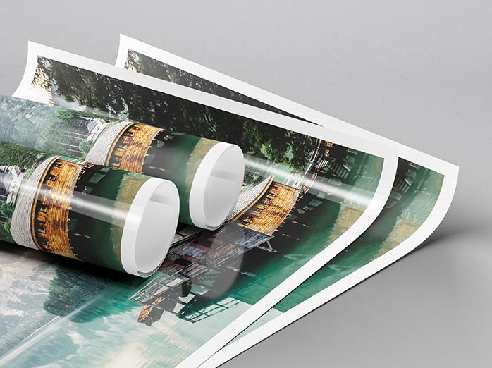 matt och blank fotoposter