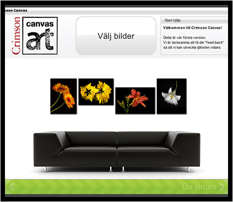 Guide Canvas - Välj bilder