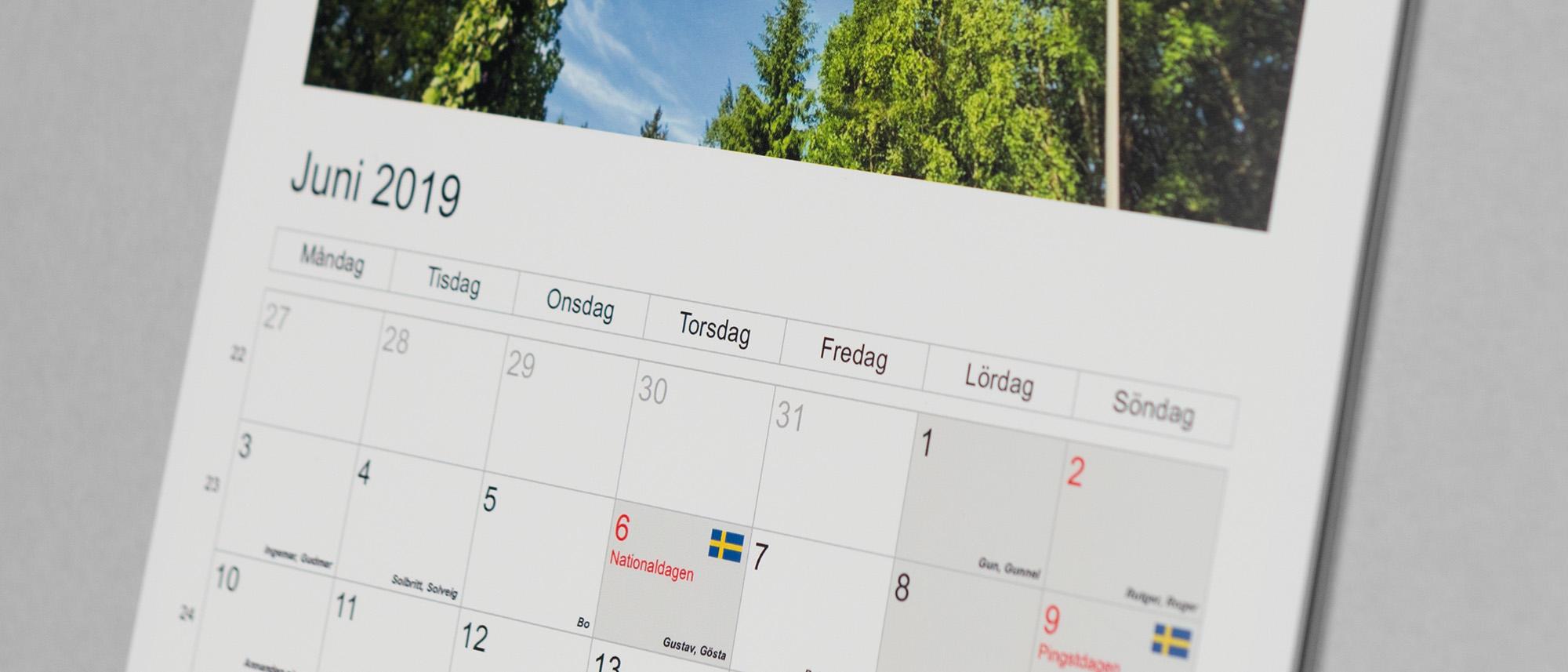 Fotokalender Klassisk med egna bilder