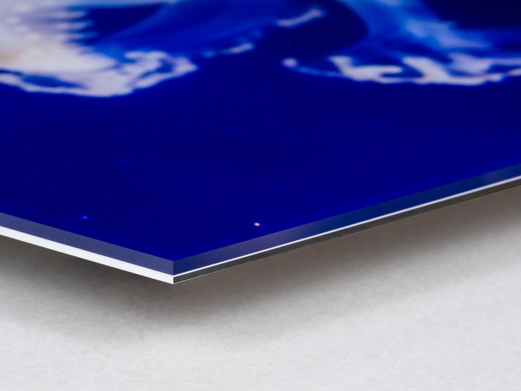 Bildmontering med fotokopia på matt plexiglas 3mm