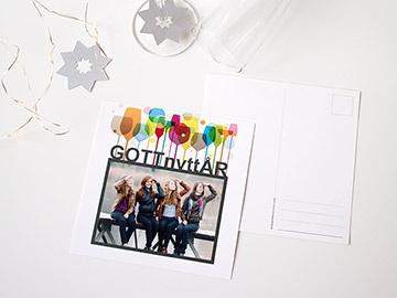 Nyårskort med egna bilder