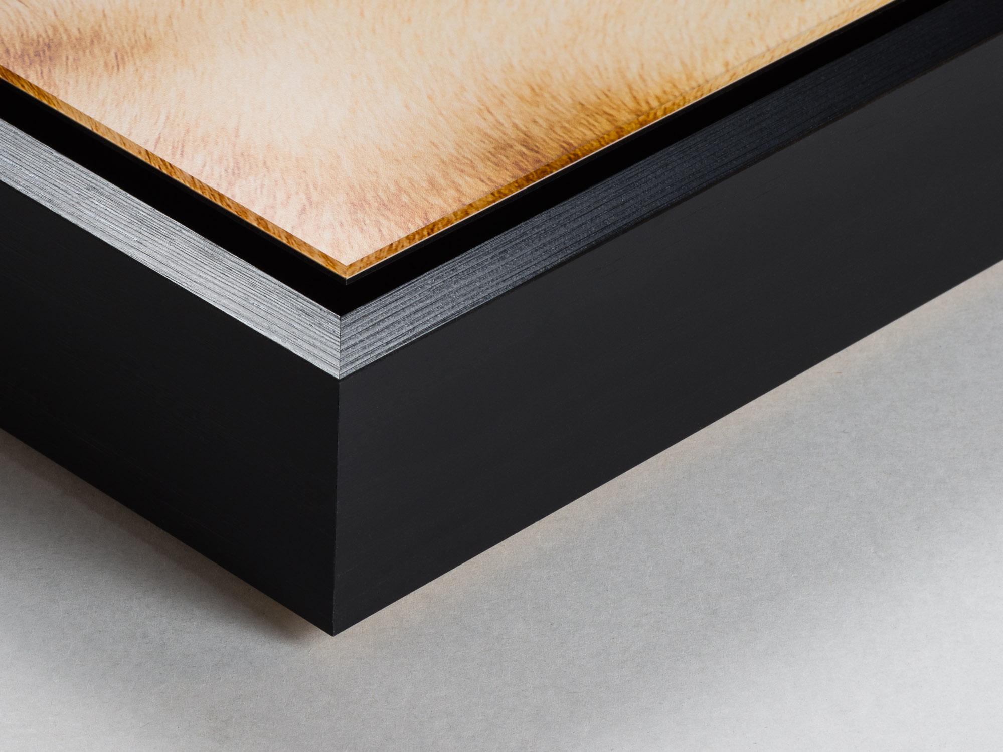 Shadowbox med monterad fotokopia