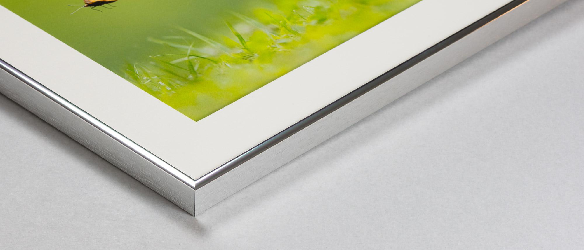 Aluminiumram med montering av foton